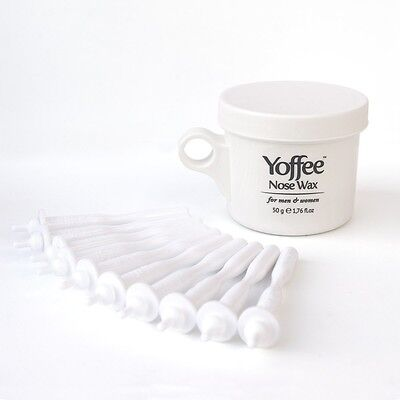 Yoffee Nose Wax Nasal Hair Removal with Natural Beeswax Formula. Safe, Quick and