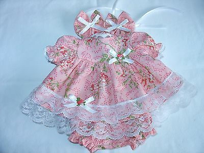 Will Fit My Child Doll clothes Doll dress is coral with flowers