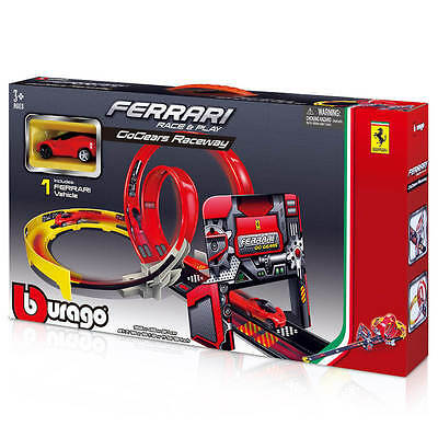 FERRARI Raceway set, BUILD, play, DOUBLE LOOPED TRACKED, BOYS Toys gift present