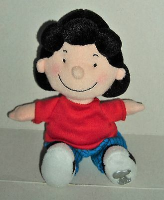 "Official Peanuts Lucy From Snoopy Plush 8"" Beanie Soft Toy"