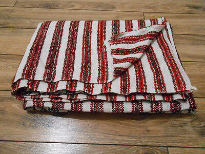 Antique Hand Woven Heavy HEMP&WOOL RUG/Coverlet Ukraine Pokuttia 19th 1,4x2m