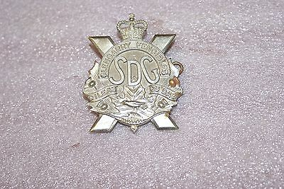 Post WWII 2 Canadian Glengarry Fencibles Cap Badge