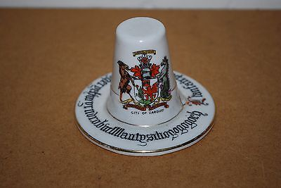 Carlton Ware Welsh Hat City Of Cardiff