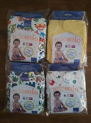 4 x Bambino Miosolo All in One Reusable Nappy Still Sealed NEW