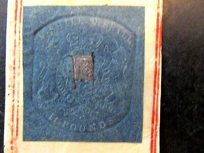 GREAT BRITAIN (1760-1820) KING GEORGE III, EMBOSSED REVENUE, 5sh 2POUND, PLATE-A