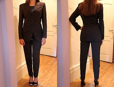Vtg BURBERRY's Prorsum Wool Blend Jacket Trousers Suit Fitted Italy UK 10