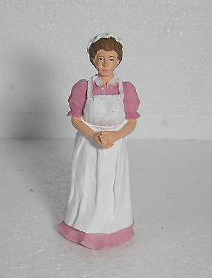 Dolls House 1 :12 scale Victorian Cook Pink Dress  Dolls House Figure
