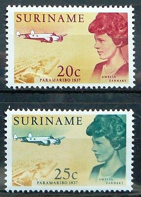 Suriname Stamps - Amelia Earhart's visit to Surinam 1937_1967 - MNH.