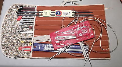 Lot Knitting Needles Roll-UP Case & Accessories