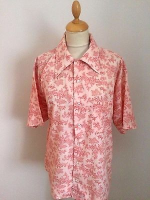 Vintage 70s  Jazzy Mens  Shirt SIZE  XL