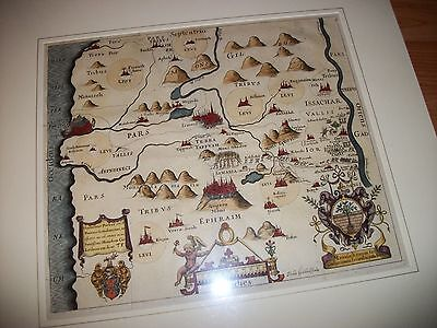 "ANTIQUE 1650 MAP by THOMAS FULLER from ""A PISGAH SIGHT OF PALESTINE"""