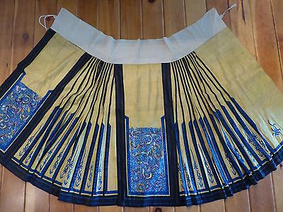 Antique Chinese Silk Embroidered Wedding Skirt