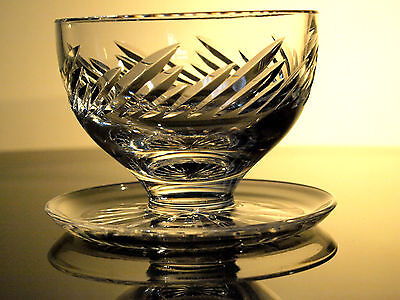 Waterford Crystal Signed Michelle Dessert Footed Bowl Vintage