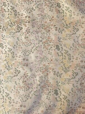 Antique Floral Upholstery Fabric 4.2 Yards