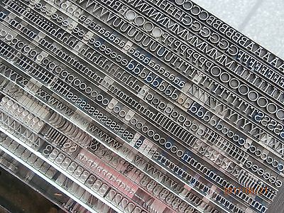 Letterpress Printing Stymie Light #553 Metal Type Set
