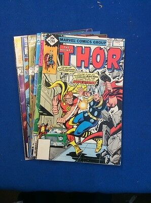 Thor COMIC Book Lot By MARVEL: Features 7 Complete And Different Issues All Nice