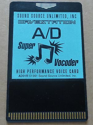 Korg Sound Source Wavestation A/D Super Vocoder ROM Card