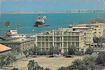 MIN139 yemen aden crescent hotel ship harbour cars architecture governorate