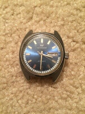 Vintage Blue Dial Day Date Waltham Auto Watch