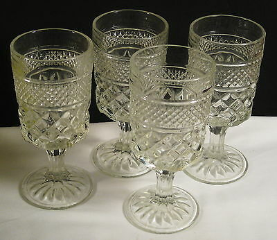 Anchor Hocking Glass Wexford Water Goblets  Set Of 4 Crystal/clear