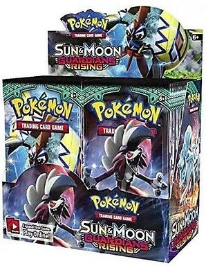 Pokemon Sun and Moon Booster Guardian Rising Box (36 Packs) New&Sealed Cards. Uk