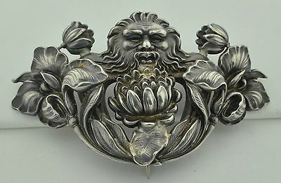 Very Large Art Nouveau Sterling Silver Simons Brothers Brooch