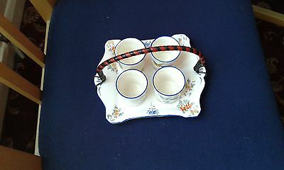 vintage royal winton egg cups & tray