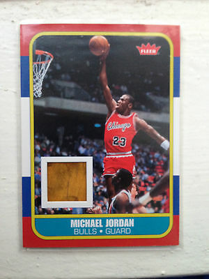 Michael Jordan 2007-08 Fleer Factory Set 1986/87 Rookie Reprint Floor RCF Insert