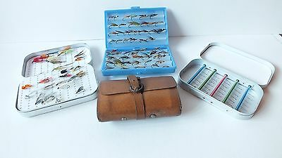 3 Fly Fishing Boxes & 1 Wallet