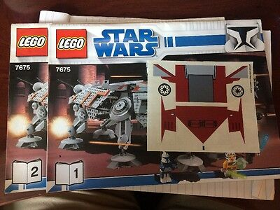 LEGO Instruction Manual With Stickers ONLY Star Wars from set 7675 AT-TE Walker