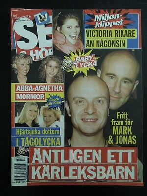 Swedish Se Magazine 7/2001 ABBA Agnetha on cover