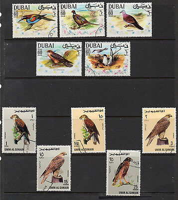 Middle East: A Very Nice Used Selection of 10-Bird Issues (Reduced Postage)