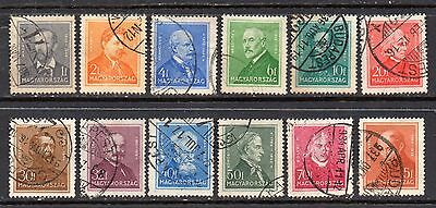 Hungary: Very Nice Selection of 12-Used Mainly 1932 Issues (Reduced Postage)