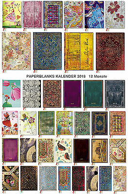 PAPERBLANKS Kalender 2018 alle Größen, Layouts und Designs 12 Monate*