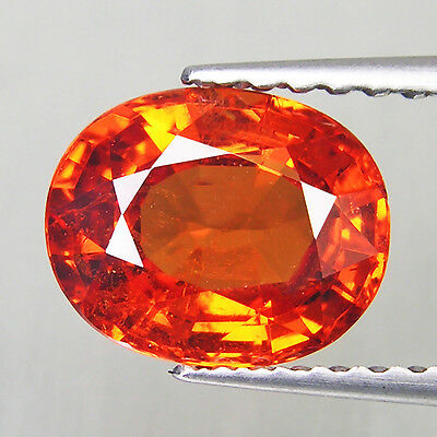 Mandarin Orange Spessartite Garnet 1.72 cts Oval Gemstone Loose Diamond F607
