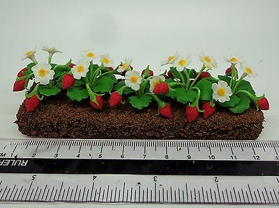 1:12th Scale Growing Strawberry Dolls House Miniature Garden, Accessory