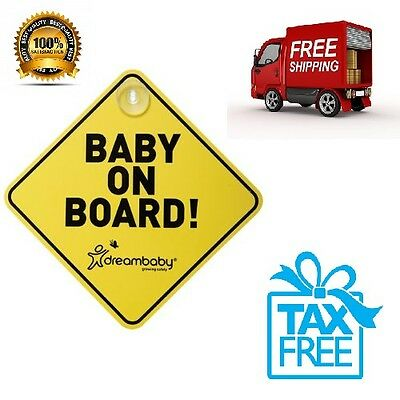 My Newborn Infant &  Baby On Board Sign Gear For Car Color: Yellow Free Shipping