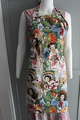 San Miguel Designs Apron by Patrice Wynne - Famous Mexican Actresses