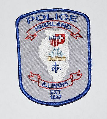Highland Illinois Police Shoulder Patch