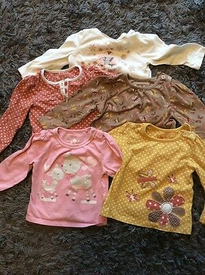Baby Girl Long Sleeve Tops 6-9 Months Tu And F&F
