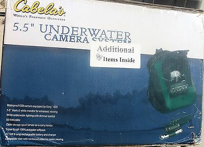 $399. Cabel's Underwater Sony Camera,5.5Inch Moniter,50Ft Cable,12V Batt&chg