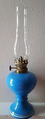 """Vintage Glass 10 1/2"""" Tall Oil Lamp"""