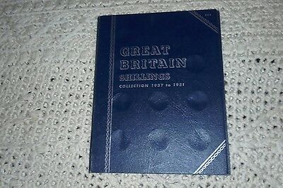 whitman folder shillings 1937-1951 with coins