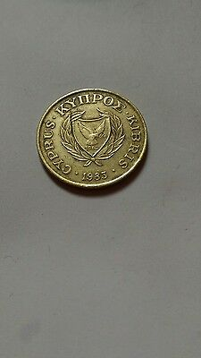 1983 cyprus 20 cent coin