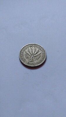 1955 cyprus 50 mils coin