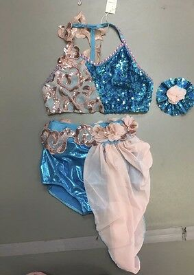Beautiful Lyrical/contemporary Dance Comp Recital Costume NWT Sz CXL/AS