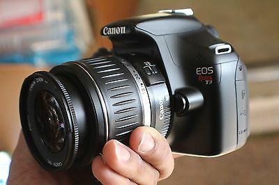 Canon Rebel T3 12.2MP SLR With 18-55mm IS Lens (2 LENSES). Freeshipping!