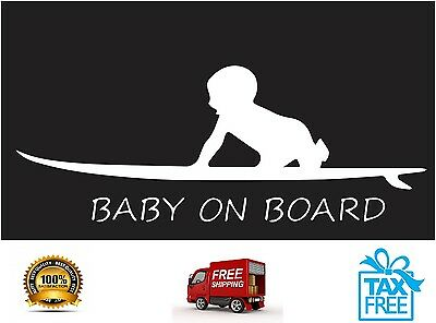 Infant & Baby On Board Funny Sticker Sign For Car Wall Color: White Free Shiping