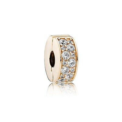 New Authentic Pandora 750842CZ Shining Elegance, Clear CZ 14K Gold