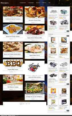 RECIPES and COOKING BLOG WEBSITE BUSINESS FOR SALE! MOBILE FRIENDLY WEBSITE
